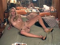 Check out this hardcore interracial scene where the slutty blonde Cieri Taylor is fucked by a guy as the camera films.