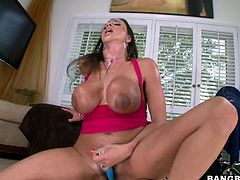 Versed bitches are used to always getting what they want and in this case Ariella is not an exception. A big cock stiffed in her hole seems not enough for her, as the hot busty milf spices the pleasure with using a dildo. Click to see this horny slut fucking as a reverse cowgirl and enjoying the cum inside!