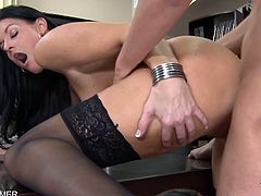 Eat Sleep Porn brings you a hell of a free porn video where you can see how the naughty brunette milf India Summer gets pounded hard and deep into a massive orgasm.