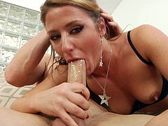 The beautiful Sheena Shaw enjoys a yummy rim job and a big hard cock up her tight ass before she ends up getting a nasty facial.