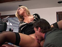 The gorgeous busty secretary Nicole Aniston will do anything for a promotion so she gets her perfect little pussy rammed hard by her horny boss.