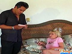 Babysitter nadia gets caught using owners vibrator