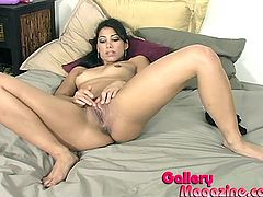 Get a load of Isabella Pacino's amazing body and especially her wet pussy as she masturbates with her sex toys as you hear her moan.