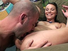 The gorgeous Alysa Gap gets a big load of hot cum on her perfect round ass after riding the guys big hard cock like a beast.