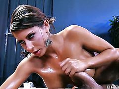 Toni Ribas uses his meaty sausage to make blowjob addict Madison Ivy with big boobs happy