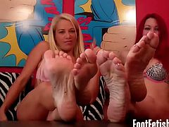 You just can't keep your eyes of these sexy feet, don't you? Watch these sexy ladies showing their petite toes and begging you to go and lick them to satisfy their fetish.