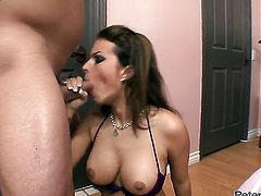Bailey Brooks lets man fuck her sweet mouth