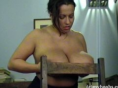 The sexy brunette Aneta Buena will get you really horny as she sucks on her own yummy nipples while she wears her sexy pantyhose.
