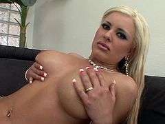The gorgeous blonde babe Andi Anderson gets her filthy mouth filled with hot cum after getting her yummy asshole drilled doggystyle.