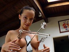 Get really horny watching there gorgeous babes getting tortured with some nasty nipple clamps in this hot BDSM compilation.