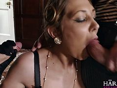 Cock crazed skank Lexi Lowe takes part in MMF threesome
