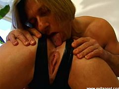 Take a look at this brutal hardcore scene where this sexy brunette has her asshole drilled by a thick cock as you hear her moan.