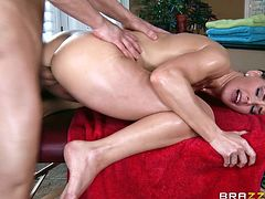 Take a look at this hardcore scene where the sexy Tanya Tate gets an oil massage before being fucked silly by her masseuse.