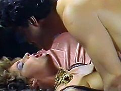 Nasty chick gets her pussy creampied in group sex orgy