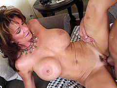 Eat Sleep Porn brings you a hell of a free porn video where you can see how the busty brunette milf Deauxma rides her man's cock into heaven while assuming very sexy poses.
