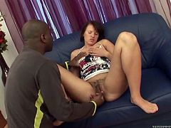 Check out this hardcore interracial scene where the sexy Ansie Rocher sucks on this guy's big black cock before being fucked.