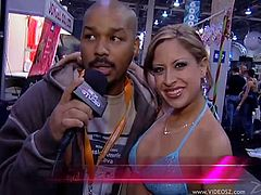 If you are tired of watching porn movies, press play on this reality clip. You will see some famous guys who give interviews and a reporter, wearing a bikini.