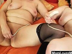 Two nasty fat moms are playing lesbian games in a bedroom. They kiss and fondle each other passionately, then lick each other's snatches and seem to be unable to stop.