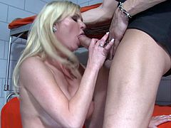 Take a look at this hardcore scene where this smoking hot prisoner ends up with a messy facial after seducing an officer with a big cock.