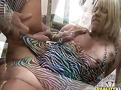 Brunette chachita Diana Cadilac getting skull fucked ferociously by Kid Jamaica before anal sex