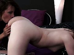 Brunette Denisa Heaven enjoys another lesbian sex session with her girlfriend Suzie Carina