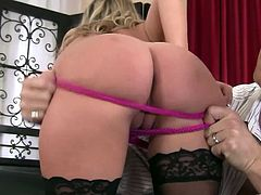 Make sure you have a look at this hardcore video where the gorgeous blonde Emma Ray is fucked silly by a guy as you hear her moan while wearing stockings.