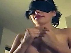Video of a real wife giving head while blindfolded, submitted by CumOnWives.com