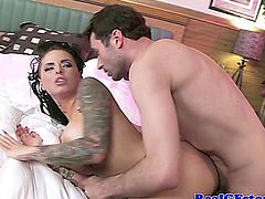 Busty tattood milf housewife anal rammed in this hd video