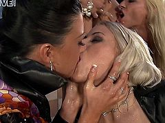 Group fuck and piss outdoors