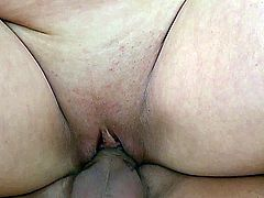 lovely chubby amateur gets fucked by a young cock.