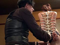 Dan and JD, the Two Knotty Boys, share their final official live rope bondage workshop with most famous bondage ties. You can see these experts ply their trade on this willing participant. The cute redhead loves being tied up.
