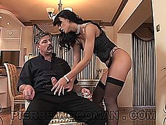 Suzie Diamond gets gangbanged by three guys. This video is in SD.