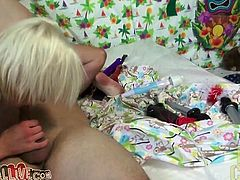 Small tittied blonde hoe Ash Hollywood gets hammered doggystyle