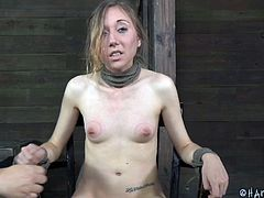 Slim, fragile and cute, Emma is having a good time with her executor. The guy tied her on the chair, covered her head and face with a pair of nylons and suffocated her. She loved that but what will happen next will be even more pleasant of our dirty little slut. Check it out!
