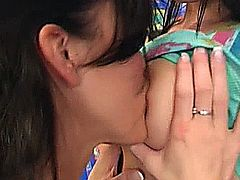 Superb lesbian teen babes licking and toying their delicious pussies