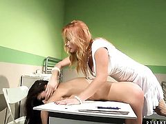 Brunette Betty Stylle and Katy Parker show their love for fuck hole in girl-on-girl action