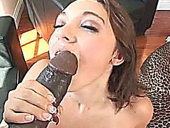 Brunette gets some bbc fucking.