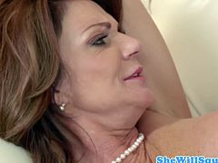 Huge titted milf gets rammed till she squirts.