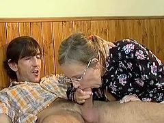 Moronic old mommy has it fat explicit and cumload nice load