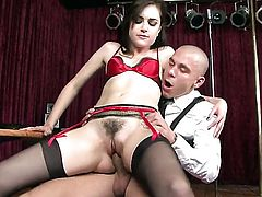 Sasha Grey is curious about oral sex with horny guy