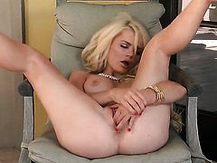 Alexis Ford gives a closeup of her honeypot while masturbating