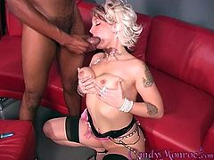 Amazing cuckold sex video with depraved blonde Candy Monroe