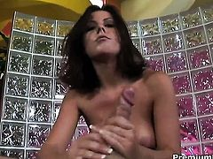 Penny Flame is one hot cock stroker that loves it so much