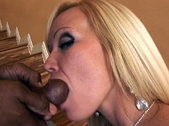 Hardcore interracial banging in a hot staircase rim job and blowjob