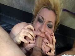 Facial Abuse brings you a hell of a free porn video where you can see how this hot blonde slut gets assfucked and facialized while assuming very naughty poses.