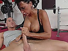 Lezley Zen fucking johnny sins at the gym