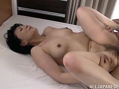 This hot chick loves to take a huge cock in her mouth for a suck in a good blowjob and gets her pussy fucked doggystyle hardcore in orgasm.