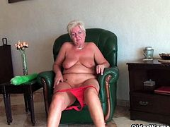Kinky granny sluts on camera. British grannies Sandie, Suzanne and Vikki take a break from cleaning and give their old pussy a treat. They are all out today.