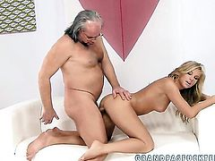 Blonde Barbie White gives unthinkable sexual pleasure to hot dude