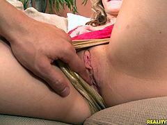Brianna Oshea takes the huge cock in her mouth for a hot blowjob and her pussy gets fucked hardcore in hot and wild orgasm.